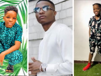 """""""Dad you're the best"""" – Tife shows off new smartphone his dad, Wizkid, gifted him after the former one cracked"""