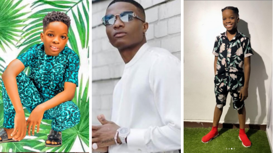 """Dad you're the best"" – Tife shows off new smartphone his dad, Wizkid, gifted him after the former one cracked"