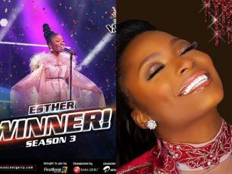 CONGRATULATIONS!! Esther Wins The Voice Nigeria Season 3